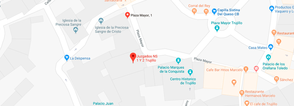 plano situación registro civil de Trujillo